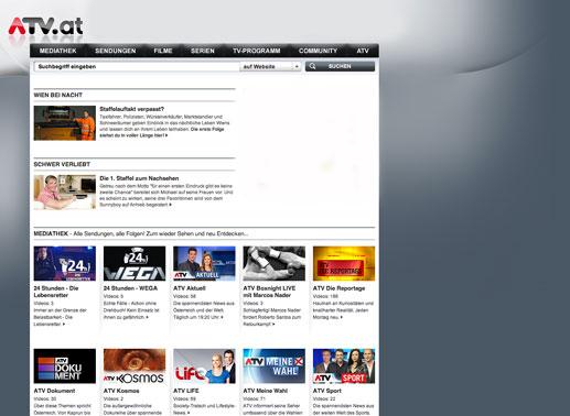 Mediathek alphabetisch sortiert bild atv screenshot tvbutler