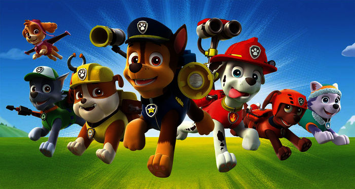 Die Paw Patrol. Bild: Sender / 2016 Spin Master PAW Productions Inc. All Rights Reserved. / 2016 Viacom International Inc.